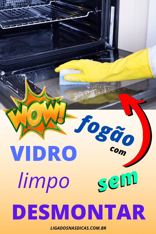 como limpar o vidro do fogão
