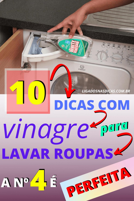 lavar as roupas com vinagre