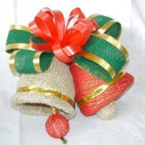 decoração de natal com materiais recicláveis
