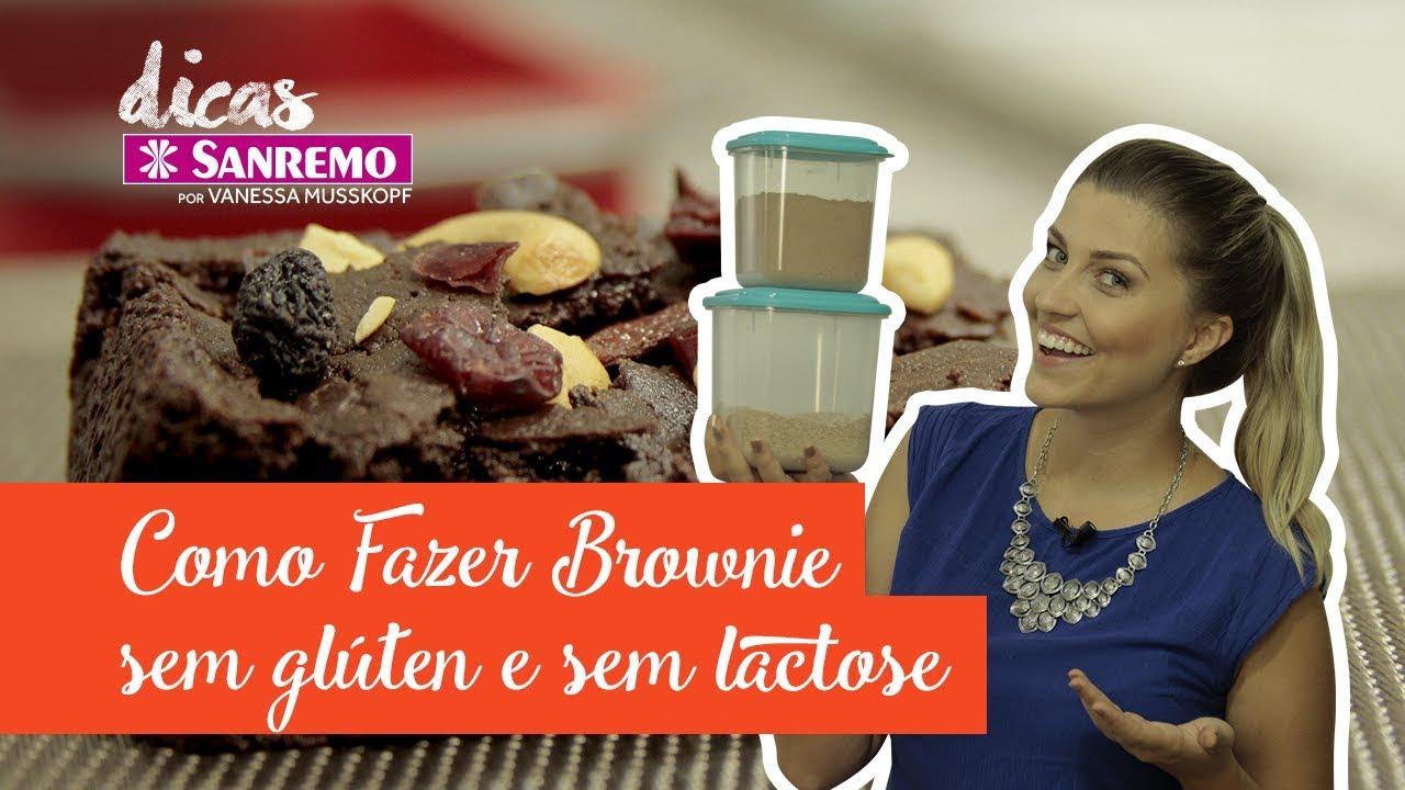 Como fazer brownie sem glúten e sem lactose