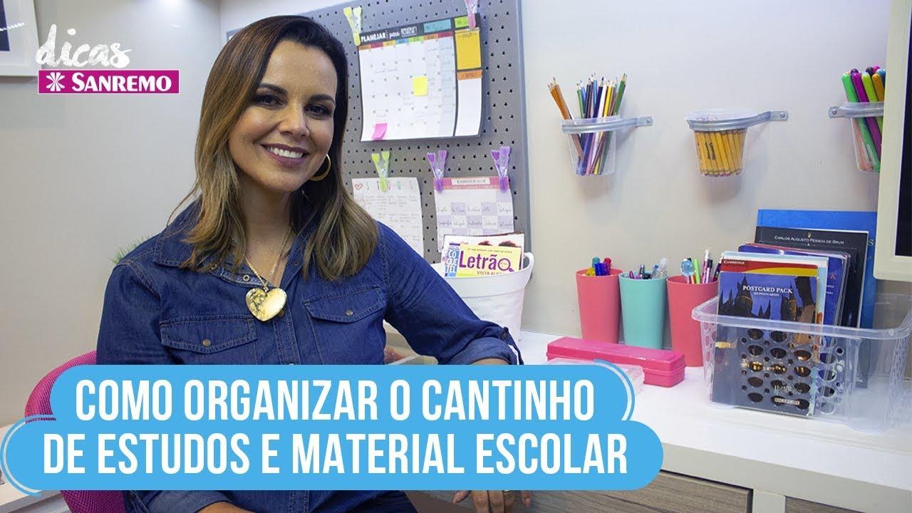 Como Organizar Mesa de Estudos e Material Escolar