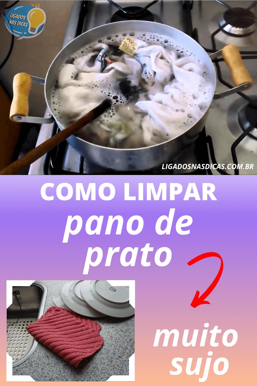 Como limpar o pano de prato muito sujo
