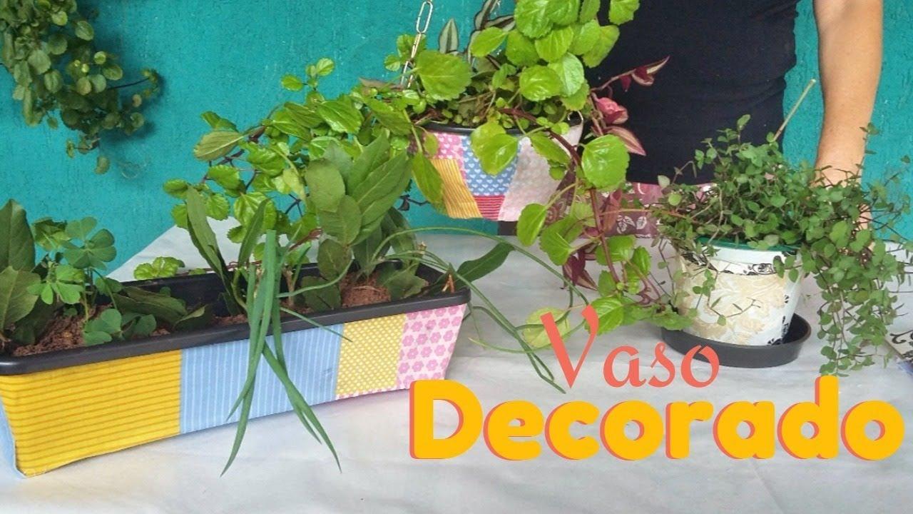 Como fazer Vasos decorados