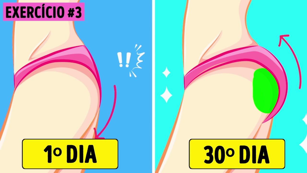 7 exercícios para um bumbum durinho