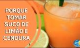 Benefícios do suco de cenoura com limão